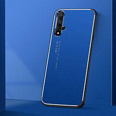 Huawei Honor 20S用ケース 高級感 手触り良い アルミメタル 製の金属製 カバー T04 ファーウェイ ネイビー