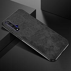 Huawei Honor 20S用360度 フルカバー極薄ソフトケース シリコンケース 耐衝撃 全面保護 バンパー C02 ファーウェイ ブラック