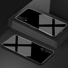 Huawei Honor 20S用ハイブリットバンパーケース プラスチック 鏡面 カバー T05 ファーウェイ ブラック