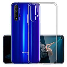 Huawei Honor 20S用極薄ソフトケース シリコンケース 耐衝撃 全面保護 クリア透明 K01 ファーウェイ クリア