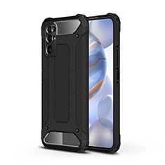 Huawei Honor 30用ハイブリットバンパーケース プラスチック 兼シリコーン カバー ファーウェイ ブラック