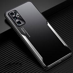 Huawei Honor 30用ケース 高級感 手触り良い アルミメタル 製の金属製 カバー M01 ファーウェイ シルバー