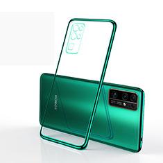Huawei Honor 30用極薄ソフトケース シリコンケース 耐衝撃 全面保護 クリア透明 H01 ファーウェイ グリーン