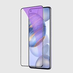 Huawei Honor 30用強化ガラス フル液晶保護フィルム アンチグレア ブルーライト F02 ファーウェイ ブラック