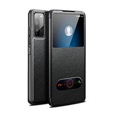 Huawei Honor 30 Lite 5G用手帳型 レザーケース スタンド カバー ファーウェイ ブラック