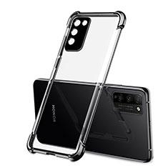 Huawei Honor 30 Lite 5G用極薄ソフトケース シリコンケース 耐衝撃 全面保護 クリア透明 S01 ファーウェイ ブラック