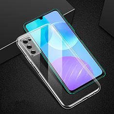 Huawei Honor 30 Lite 5G用極薄ソフトケース シリコンケース 耐衝撃 全面保護 クリア透明 T02 ファーウェイ クリア