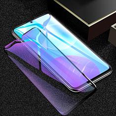 Huawei Honor 30 Lite 5G用強化ガラス フル液晶保護フィルム アンチグレア ブルーライト F02 ファーウェイ ブラック