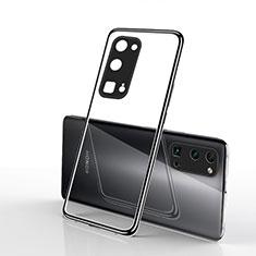 Huawei Honor 30 Pro用極薄ソフトケース シリコンケース 耐衝撃 全面保護 クリア透明 H01 ファーウェイ ブラック