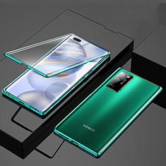 Huawei Honor 30 Pro用ケース 高級感 手触り良い アルミメタル 製の金属製 360度 フルカバーバンパー 鏡面 カバー M01 ファーウェイ グリーン