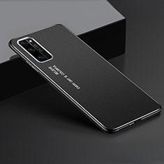 Huawei Honor 30 Pro用ケース 高級感 手触り良い アルミメタル 製の金属製 カバー ファーウェイ ブラック