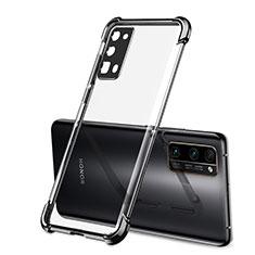 Huawei Honor 30 Pro用極薄ソフトケース シリコンケース 耐衝撃 全面保護 クリア透明 H02 ファーウェイ ブラック