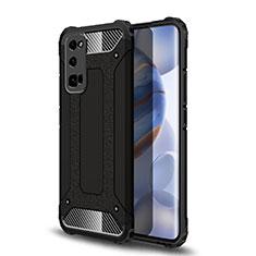 Huawei Honor 30 Pro用ハイブリットバンパーケース プラスチック 兼シリコーン カバー U01 ファーウェイ ブラック