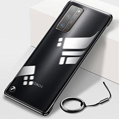 Huawei Honor 30 Pro用ハードカバー クリスタル クリア透明 H01 ファーウェイ ブラック