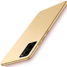 Huawei Honor 30 Pro用ハードケース プラスチック 質感もマット カバー M02 ファーウェイ ゴールド