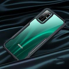 Huawei Honor 30S用ハイブリットバンパーケース クリア透明 プラスチック 鏡面 ファーウェイ ブラック