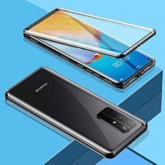 Huawei Honor 30S用ケース 高級感 手触り良い アルミメタル 製の金属製 360度 フルカバーバンパー 鏡面 カバー M01 ファーウェイ ブラック