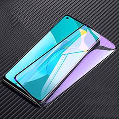 Huawei Honor 30S用強化ガラス フル液晶保護フィルム アンチグレア ブルーライト F02 ファーウェイ ブラック