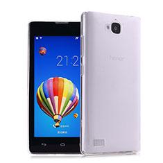 Huawei Honor 3C用極薄ソフトケース シリコンケース 耐衝撃 全面保護 クリア透明 ファーウェイ クリア