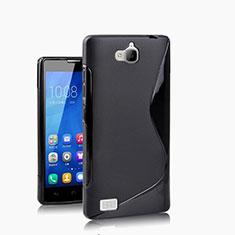 Huawei Honor 3C用ソフトケース S ライン ファーウェイ ブラック