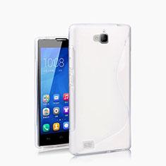 Huawei Honor 3C用ソフトケース S ライン ファーウェイ ホワイト