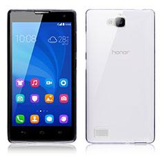 Huawei Honor 3C用極薄ソフトケース シリコンケース 耐衝撃 全面保護 クリア透明 T02 ファーウェイ クリア