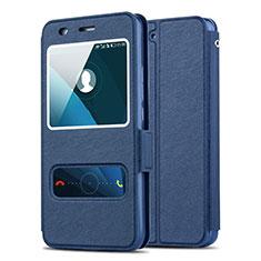 Huawei Honor 4A用手帳型 レザーケース スタンド ファーウェイ ネイビー