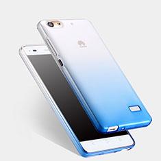 Huawei Honor 4C用極薄ソフトケース グラデーション 勾配色 クリア透明 ファーウェイ ネイビー