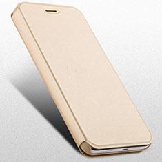 Huawei Honor 4X用手帳型 レザーケース スタンド ファーウェイ ゴールド