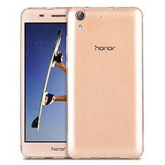 Huawei Honor 5A用極薄ソフトケース シリコンケース 耐衝撃 全面保護 クリア透明 カバー ファーウェイ ゴールド