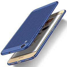 Huawei Honor 5A用ハードケース プラスチック メッシュ デザイン ファーウェイ ネイビー