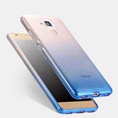 Huawei Honor 5C用極薄ソフトケース グラデーション 勾配色 クリア透明 ファーウェイ ネイビー