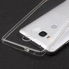 Huawei Honor 5X用極薄ソフトケース シリコンケース 耐衝撃 全面保護 クリア透明 T04 ファーウェイ クリア
