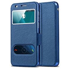 Huawei Honor 6用手帳型 レザーケース スタンド ファーウェイ ネイビー