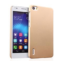 Huawei Honor 6用ハードケース プラスチック 質感もマット ファーウェイ ゴールド