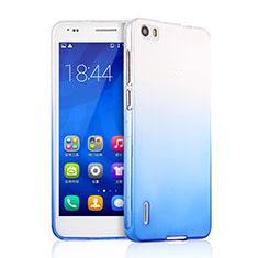 Huawei Honor 6用極薄ソフトケース グラデーション 勾配色 クリア透明 ファーウェイ ネイビー