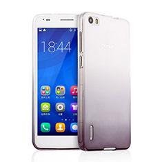 Huawei Honor 6用極薄ソフトケース グラデーション 勾配色 クリア透明 ファーウェイ グレー
