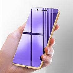 Huawei Honor 6用アンチグレア ブルーライト 強化ガラス 液晶保護フィルム ファーウェイ ネイビー
