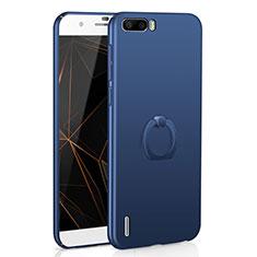 Huawei Honor 6 Plus用ハードケース プラスチック 質感もマット アンド指輪 A01 ファーウェイ ネイビー