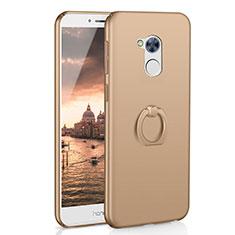 Huawei Honor 6A用ハードケース プラスチック 質感もマット アンド指輪 A01 ファーウェイ ゴールド