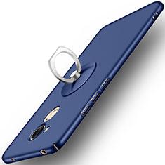 Huawei Honor 6A用ハードケース プラスチック 質感もマット アンド指輪 ファーウェイ ネイビー