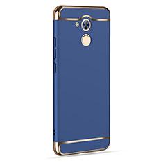 Huawei Honor 6C用ケース 高級感 手触り良い アルミメタル 製の金属製 ファーウェイ ネイビー