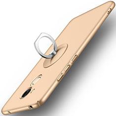 Huawei Honor 6C Pro用ハードケース プラスチック 質感もマット アンド指輪 ファーウェイ ゴールド