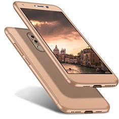 Huawei Honor 6X用ハードケース プラスチック 質感もマット 前面と背面 360度 フルカバー ファーウェイ ゴールド