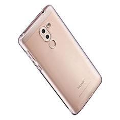 Huawei Honor 6X用極薄ソフトケース シリコンケース 耐衝撃 全面保護 クリア透明 T06 ファーウェイ クリア