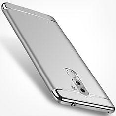 Huawei Honor 6X用ケース 高級感 手触り良い メタル兼プラスチック バンパー M02 ファーウェイ シルバー
