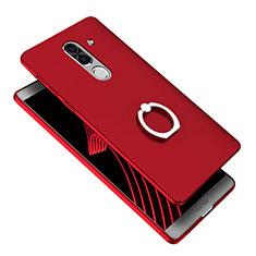 Huawei Honor 6X用ハードケース プラスチック 質感もマット アンド指輪 A07 ファーウェイ ネイビー