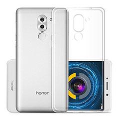 Huawei Honor 6X用極薄ソフトケース シリコンケース 耐衝撃 全面保護 クリア透明 ファーウェイ クリア