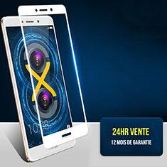 Huawei Honor 6X用強化ガラス フル液晶保護フィルム F04 ファーウェイ ホワイト