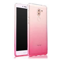 Huawei Honor 6X Pro用極薄ソフトケース グラデーション 勾配色 クリア透明 ファーウェイ ピンク